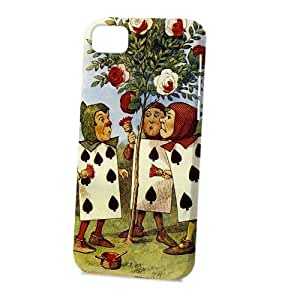 Case FunDiy For Iphone 4/4s Case Cover Vogue Version - 3D Full Wrap - 3D Full Wrap - Alice in Wonderland Painting The Roses