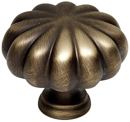 English Rope Solid Brass (Alno A819-1-AEM Rope Traditional Knobs, Antique English Matte, 1-1/4