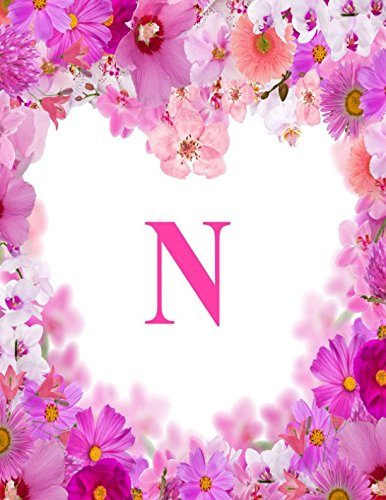 N: Monogram Initial Composition Lined Blank Paper Journal Diary Notebook To Write In (Monogrammed Collections)