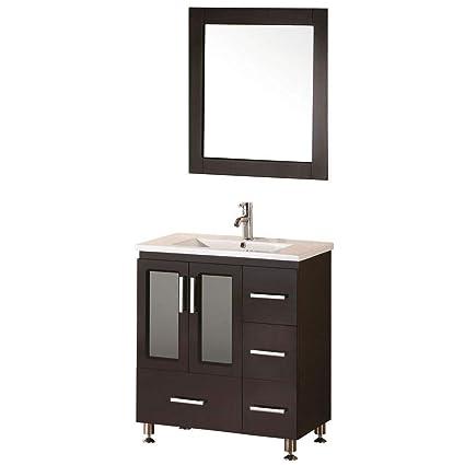 Design Element Stanton Single Drop-In Sink Vanity Set with Espresso on pine bathroom design, pewter bathroom design, teal bathroom design, navy bathroom design, chocolate bathroom design, sage bathroom design, pebble bathroom design, maple bathroom design, lavender bathroom design, onyx bathroom design, ivory bathroom design, violet bathroom design, forest bathroom design, tangerine bathroom design, cherry bathroom design, peach bathroom design, bronze bathroom design, mauve bathroom design, starbucks bathroom design, gold bathroom design,