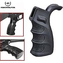 Tactical Black Ergonomic Rifle Pistol Grip Handle Grooves G-Lock w/Storage for RPR Black #1