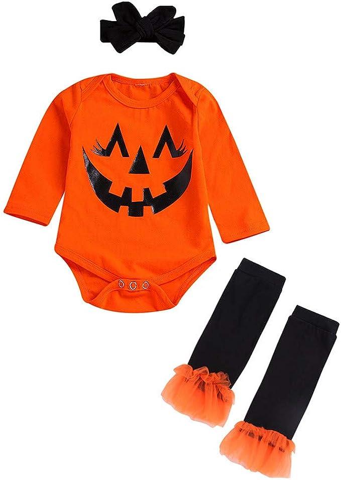 FELZ Conjunto de 3 Piezas de Halloween Disfraz Calabaza Enterizo ...