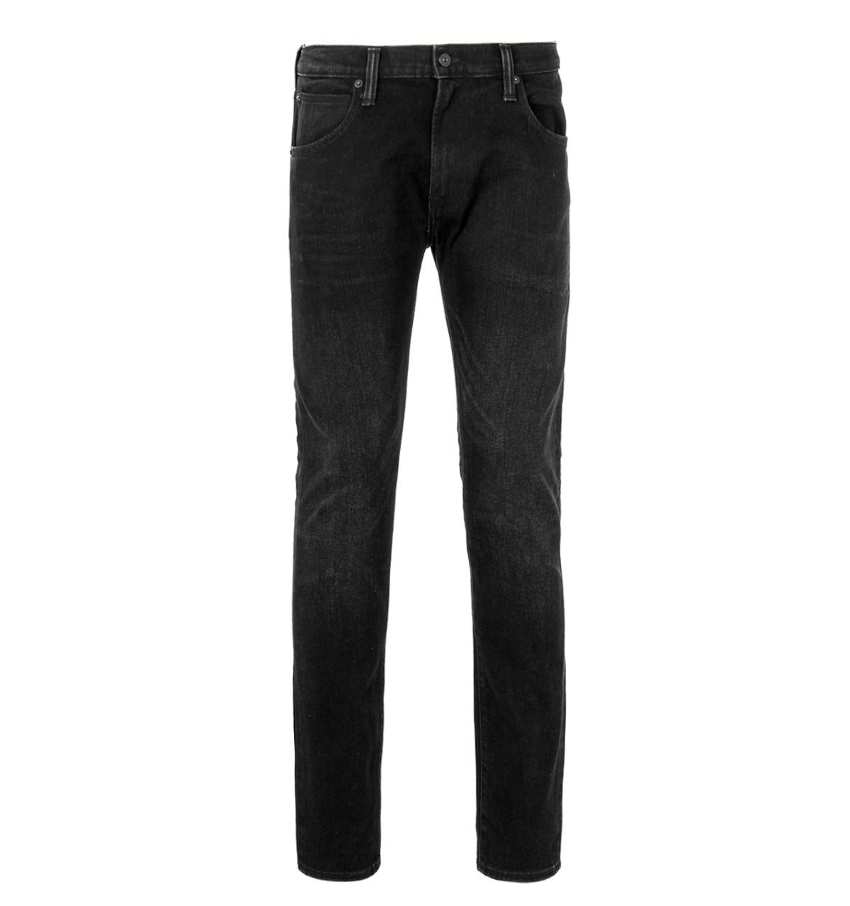 Edwin ED-85 Black Belmont Wash Slim Tapered Drop Crotch Selvage Jeans-38 Waist / 34 Leg