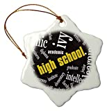Funny Christmas Snowflake Ornaments Chalkboard Word Art For High School Graduation Holiday Xmas Tree Hanging Ornaments Decoration Gifts