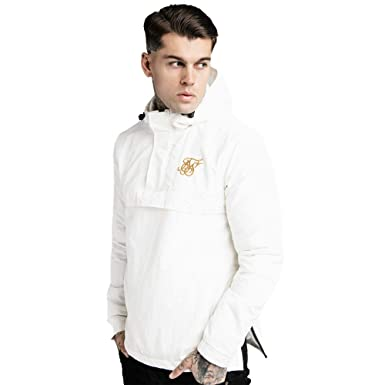 SIK SILK Energy Over The Head Windbreaker Jacket White-M at ...