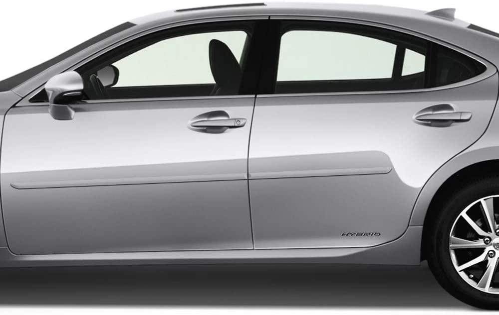 Atomic Silver 1J7 Dawn Enterprises FE-ES350-13 Finished End Body Side Molding Compatible with Lexus ES