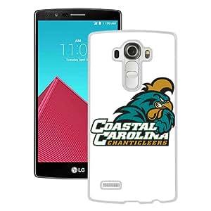 Popular LG G4 Case, Beautiful Designed Case With NCAA Big South Conference Coastal Carolina Chanticleers 1 White LG G4 Cover