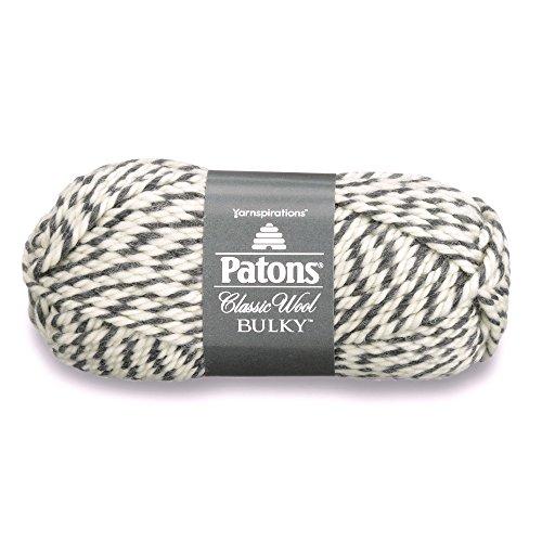 Patons  Classic Wool Bulky Yarn - (5) Bulky Gauge 100% Wool - 3.5oz -  Dark Grey -   For Crochet, Knitting & -