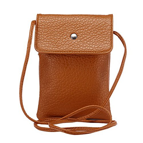Cloud Cross Body - Universal Crossbody Cell Phone Bag Multipurpose Soft PU Leather Carrying Cases Wallet Shoulder Pouch Bag for iPhone X/8 7 6 Plus /6S Samsung Galaxy S8 S7 S6 Edge Under 6.2 inchs Style2-Coffee