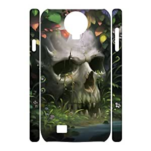 Cases Of Artistic Skull 3D Bumper Plastic Cell phone Case For Samsung Galaxy S4 i9500