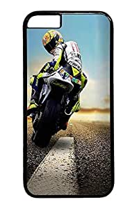 Personality customization Biker Looking Back Custom iphone 6 plus 5.5inch Case Cover Polycarbonate black &New Diy Design By PLUS19679A case
