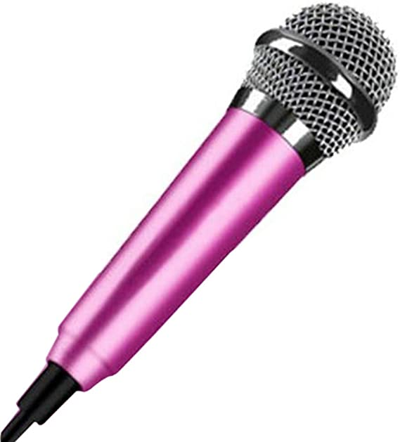 Mini Microphone Handheld Studio Mobile Karaoke Microphone Condenser Mic for iPhone/iPad Samsung Android Laptop