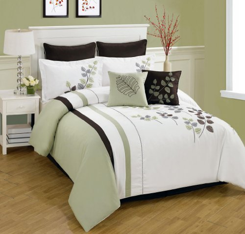 Outrageous Green And Brown Bedroom: Sage Green And Brown Comforter And Bedding Sets