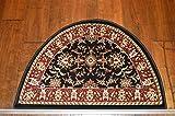2'2'' x 3'3'Traditional Design Hearth Slice Rug Black Burgundy Fireplace Lodge Cabin Doormat