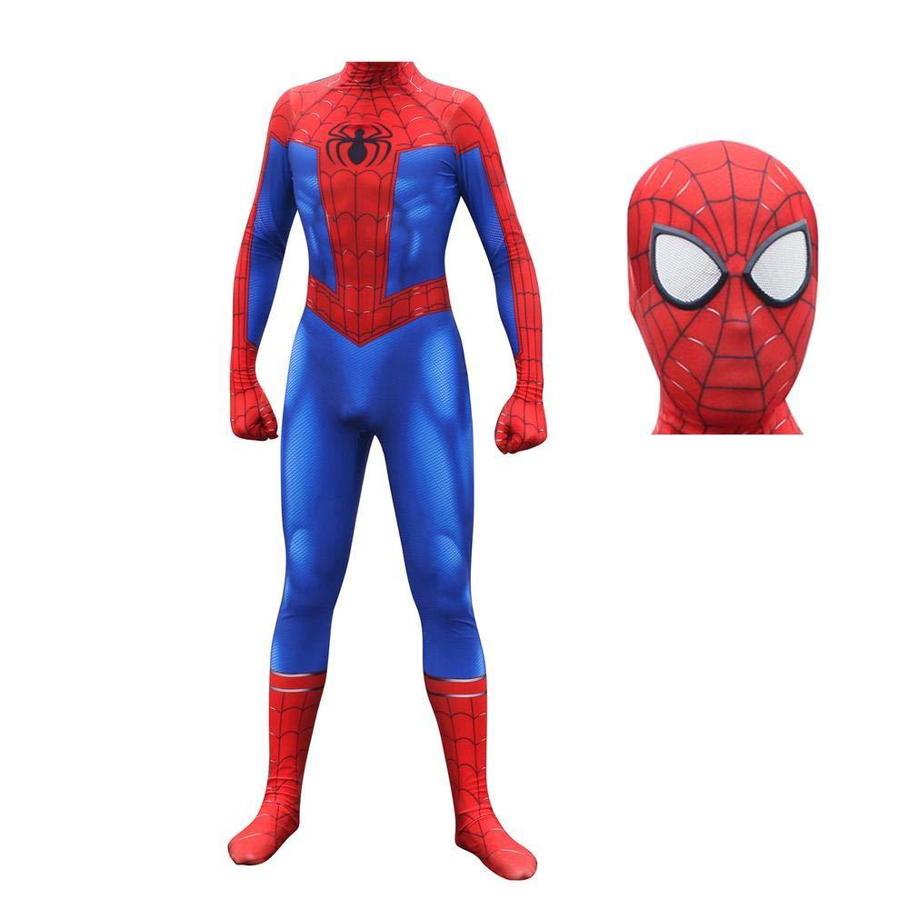 Men Medium BLL 3D digital printing SpiderMan Movie SpiderMan  Into the SpiderVerse cosplay Siamese tights, Halloween role play costume MenM