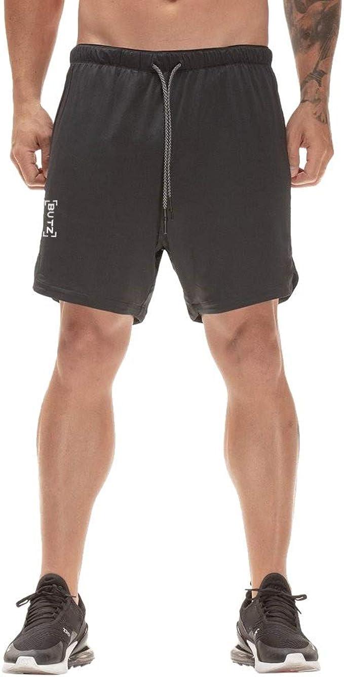 YEBIRAL Pantalones Cortos Hombre, Verano con cordón Pantalón ...