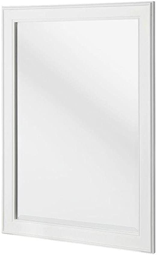 Amazon Com Home Decorators Collection Gazette 32 In L X 24 In W Framed Wall Mirror In White Home Kitchen