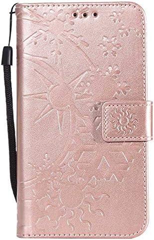 Galaxy A5 2015 ケース手帳型 OMATENTI レザー 革 薄型 財布型カバー カード入れ スタンド機能, 全面保護 おしゃれ 手帳ケース, 液晶保護 Samsung Galaxy A5 2015対応, ローズゴールド