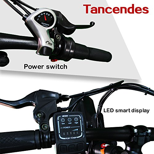"""Tancendes Electric Bike 26"""" MTB Lithium Battery 36V 350W Brushless Motor with 3.0"""" Fat Tire"""