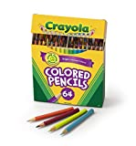 Crayola Colored Pencils, 64 Count, Vibrant Colors, Pre-sharpened, Art Tools, Great for Adult Coloring