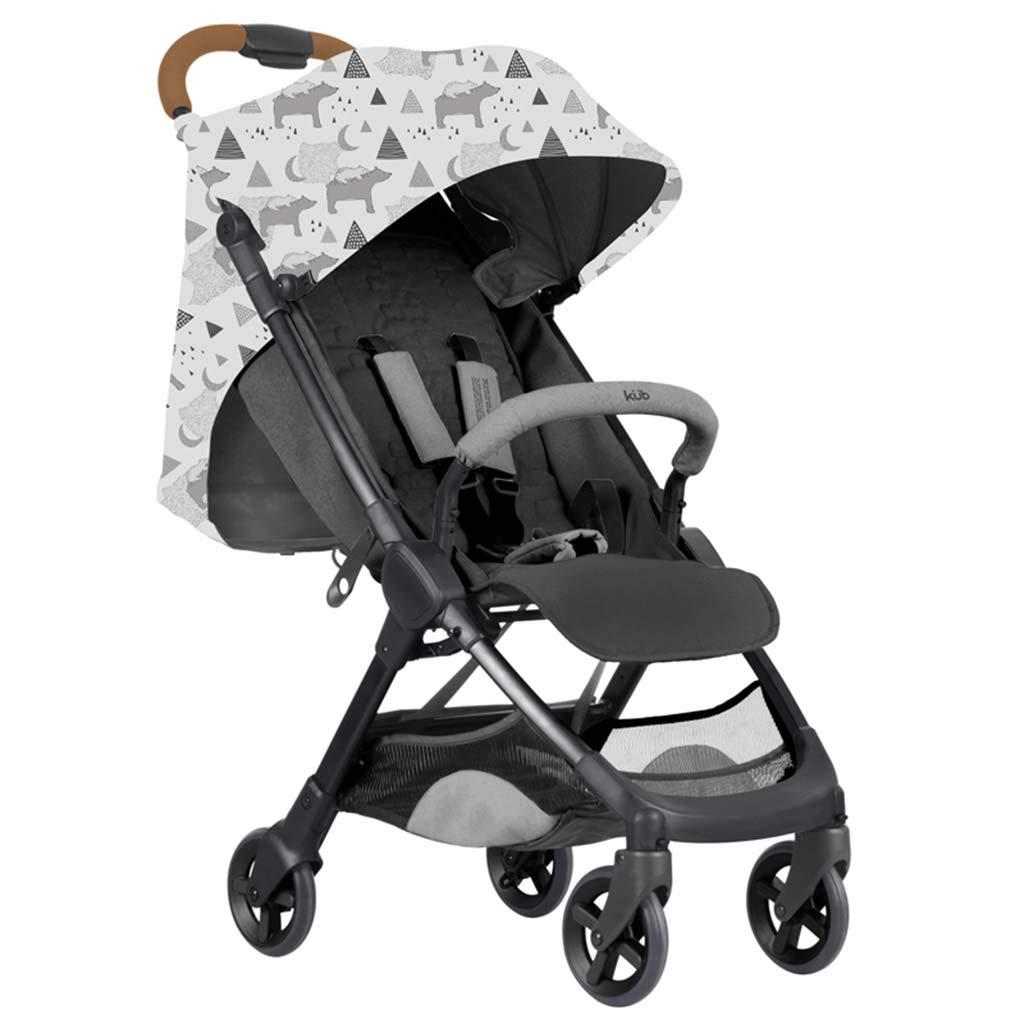 ベビーベビーカーポータブル赤ちゃんの傘軽量折りたたみ超軽量バッグ子供トロリー4輪ショックアブソーバのアルミフレームをリクライニング座ることができます   B07TH2C13J