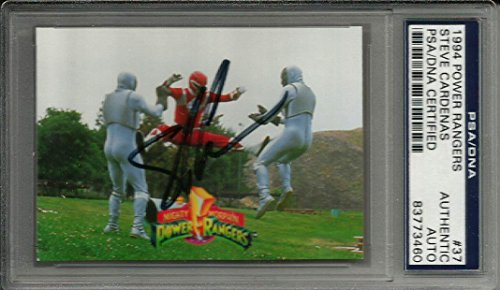1994 Power Rangers Steve Cardenas Red Ranger #37 Signed Auto Card - PSA/DNA Certified (Rangers Signed Auto)