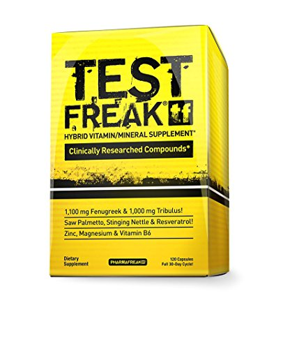 Pharmafreak Test Freak - #1 Selling Testosterone Booster - Hybrid Pro - Testosterone Stimulator - 120 Capsules - Boost Testosterone - Helps to Increase Muscle Mass, Energy, Stamina, Libido and Recovery Time - Guaranteed 2 Year Shelf Life! - Power Booster Test