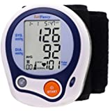 LotFancy Automatic Digital Wrist Blood Pressure Monitor with Case, Irregular Heartbeat Detector, 60 Memories, WHO Indicator, FDA Approved, Large LCD