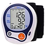 LotFancy Wrist Blood Pressure Cuff Monitor Machine with Portable Case for Home Use, FDA Approved, IHB/WHO Indicator, 60 Memories