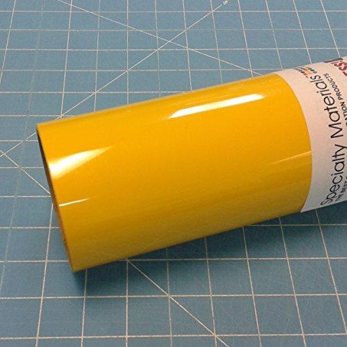 ThermoFlex Plus 15'' x 15' Roll Medium Yellow Heat Transfer Vinyl by Coaches World