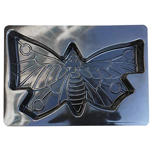 Butterfly Shape Stepping Stone Mold Stepping Stone Mold Concrete Cement Mould ABS Paving Floor Mould Colorful Floor Tile Patchwork Plastic Floor Mould For Lawns Parks Gardens Beaches Path Black (Stone Stepping Abs Mold Plastic)