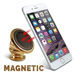 #1 Magnetic Cell Phone Holder by SMART & EASY® - Cell Phone Car Mount - Car Mount Phone Holder - Universal Magnetic Dashboard Mount - Suitable For All Phone Sizes And Tablets - Fits In Any Vehicle