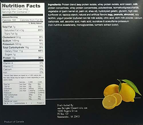 Proti Kind Very Low Carb Zesty Lemon Bars - Full CASE - 84 Bars by Being Well Essentials (Image #1)