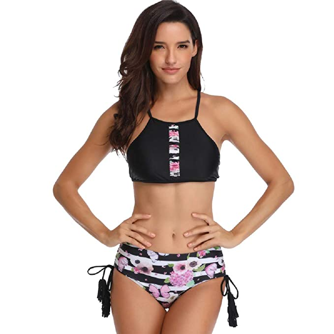 Amazon.com: Shangrui - Traje de baño deportivo para mujer de ...