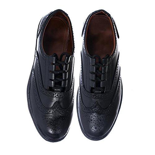 New Mens Black Leather Upper Ghillie Brogues Shoes For Kilts- Size 12 UK