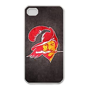 iPhone 4,4S Phone Case Football NFL Tampa Bay Buccaneers Personalized Cover Cell Phone Cases GHX446671