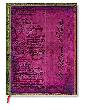 Faszinierende Handschriften Blake Gedichte - Faux Leder - Notizbuch Groß Liniert - Paperblanks