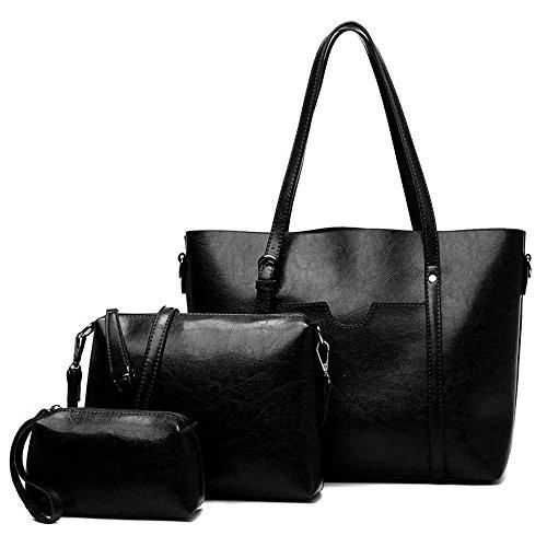 Single With Handbag Female And Black Leather Soft Bag Shoulder YIXwIr