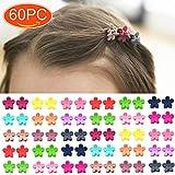 Elesa Miracle 60pcs Women Girl Mini Hair Claw Clips Flower Hair Bangs Pin Kids Hair Accessories Clips