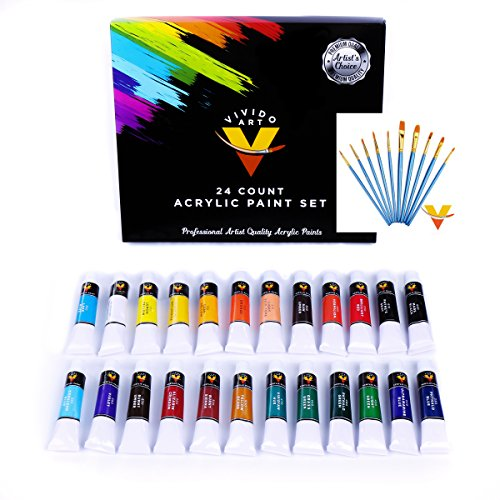 24 Color Acrylic Paint set
