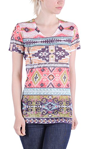 Zelia Damen T-Shirt Mehrfarbig mehrfarbig