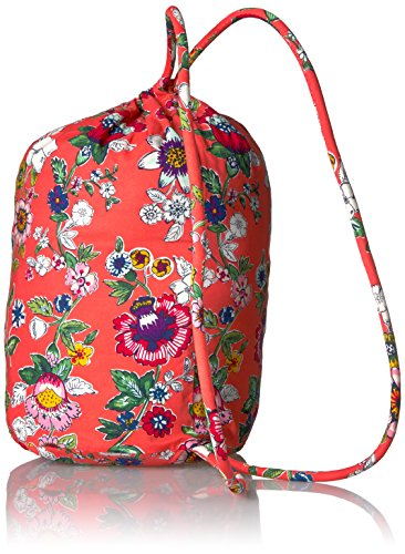 Iconic Bradley Floral Bag Coral Cotton Signature Ditty Vera RPwqvz