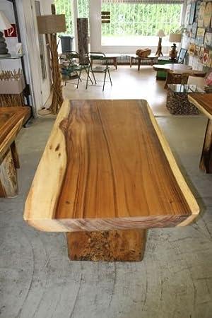 massiver esstisch 180cm x 80cm baumstamm tisch echtholz