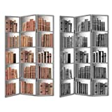 Essential Decor Entrada Collection Book Stacks Room Divider, 72 by 48 by 1-Inch