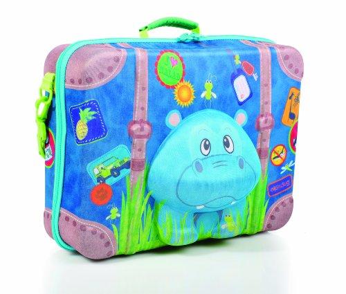 okiedog wildpack 80333 maleta para niños con motivo 3D DRAGÓN, rojo HIPOPÓTAMO turquesa