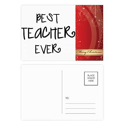 Merry Christmas Teacher Quotes.Amazon Com Best Teacher Ever Words Quotes Merry Christmas