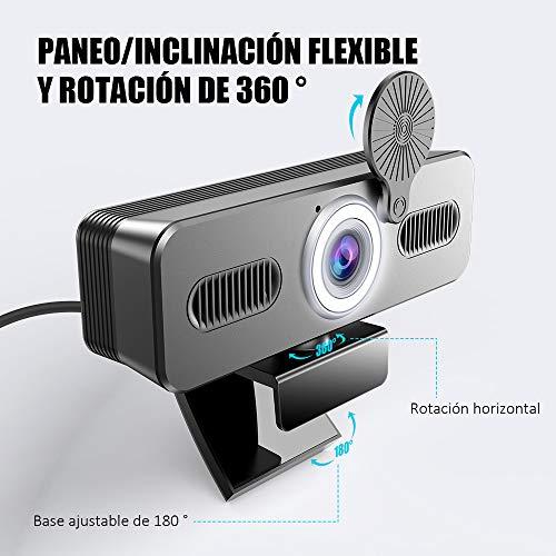 Belnk A9C Webcam mit Ringlicht, FHD 1080P Webcam mit Mikrofon und Streaming Webcam, Plug & Play Webkamera, Einstellbare Helligkeit, USB Webcam für PC Desktop Laptop MAC, Zoom Skype YouTube