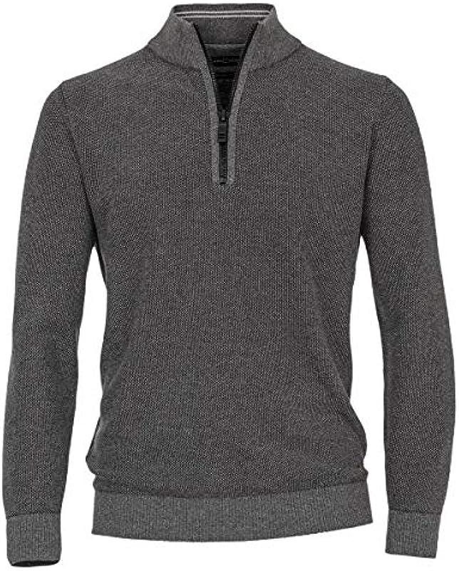CASAMODA Troyer-Pullover grau Melange große Größen, XL Größe:3XL: Odzież