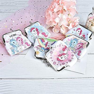 Ruikey Carteras Mujer Vintage Cartera De Dibujos Animados Monederos Niña Unicornio Monederos De Niñas Adolescentes: Equipaje