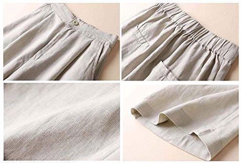 Tendenza Leggero Pantaloni Tempo Fashion Baggy Donne Pantaloni Donna Classiche Lino Pantaloni Pantaloni Unique Larghi Eleganti Pantaloni Prodotto Estivi Plus Khaki Libero XIqfFUZ